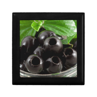 Detailed close-up view of the black olives trinket boxes