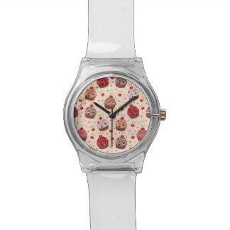 Detailed Cupcake Pattern Watch