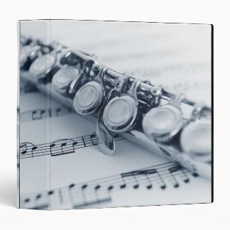 Detailed Flute 3 Ring Binder
