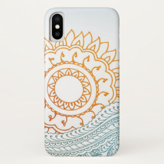Detailed henna abstract sunrise Case-Mate iPhone case