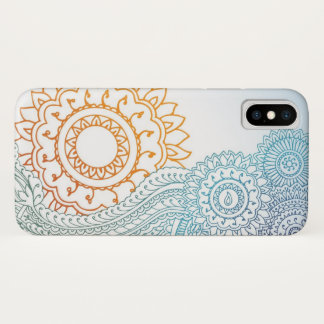 Detailed henna abstract sunrise iPhone x case