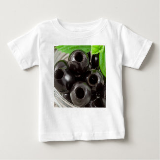 Detailed macro view of the black olives baby T-Shirt