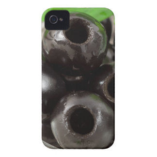 Detailed macro view of the black olives Case-Mate iPhone 4 case