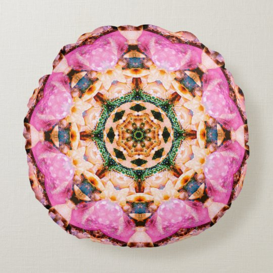 Detailed Mandala For Her Round Pillow