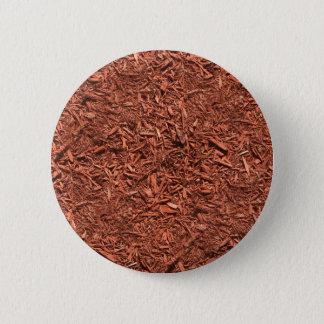 detailed mulch of red cedar for landscaper 2 inch round button