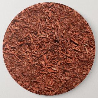 detailed mulch of red cedar for landscaper 6 inch round button