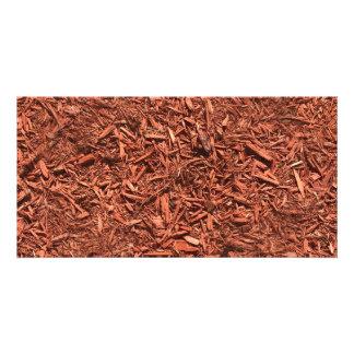 detailed mulch of red cedar for landscaper card