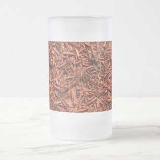 detailed mulch of red cedar for landscaper frosted glass beer mug