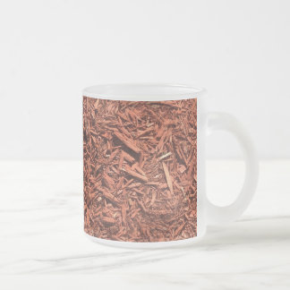 detailed mulch of red cedar for landscaper frosted glass coffee mug