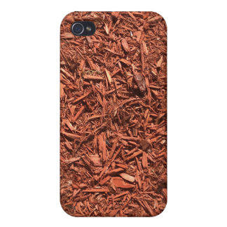detailed mulch of red cedar for landscaper iPhone 4/4S case