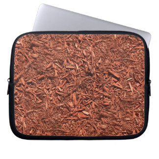 detailed mulch of red cedar for landscaper laptop sleeve