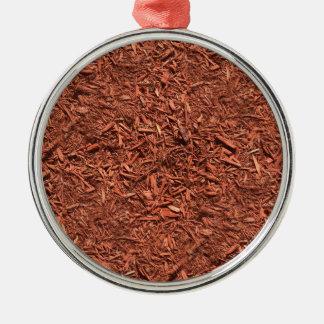 detailed mulch of red cedar for landscaper metal ornament