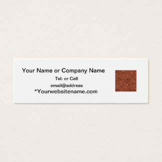 detailed mulch of red cedar for landscaper mini business card