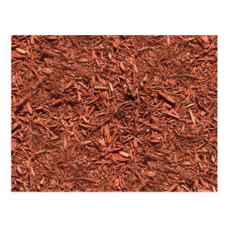 detailed mulch of red cedar for landscaper postcard
