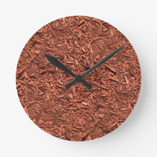 detailed mulch of red cedar for landscaper round clock