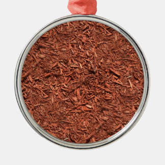 detailed mulch of red cedar for landscaper Silver-Colored round ornament