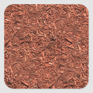 detailed mulch of red cedar for landscaper square sticker