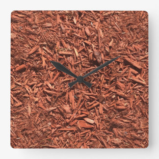 detailed mulch of red cedar for landscaper square wall clock