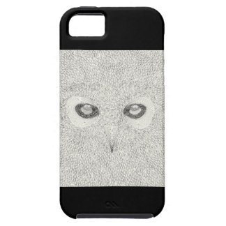 Detailed owl illustration in black and white iPhone 5 cover