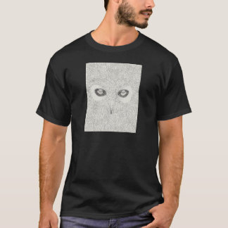 Detailed owl illustration in black and white T-Shirt