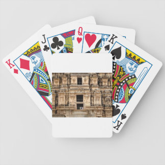 detailed side of building bicycle playing cards