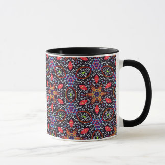 Detailed Trippy Abstract Art Pattern Mug - Groovy!
