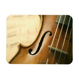 Detailed Violin Magnet