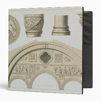 Details of a sculptured arch and columns from St. Vinyl Binder