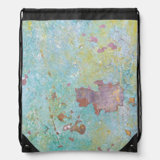 Details of Painted Wall | Fort Hayden, WA Drawstring Bag