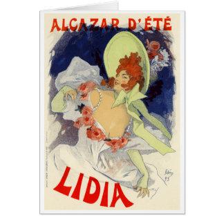 d'Été Lidia, Jules Chéret d'Alcazar Cartes