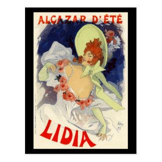 d'Été Lidia, Jules Chéret d'Alcazar Carte Postale