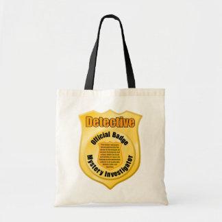 Detective Badge Tote Bag