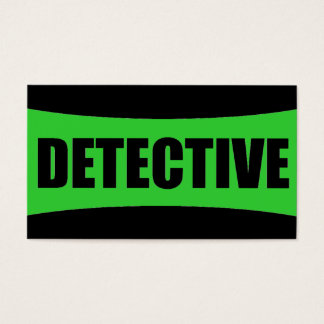 Detective Business Card