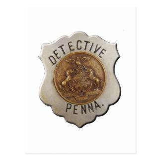 Détective de la Pennsylvanie Carte Postale