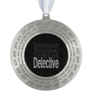 Detective Extraordinaire Pewter Ornament