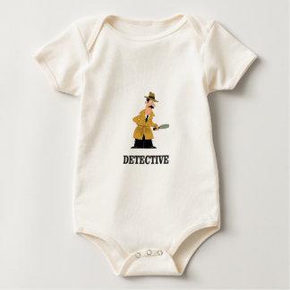 detective man baby bodysuit