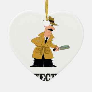 detective man ceramic ornament