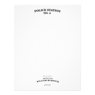 Detective Murdoch Stationery Customized Letterhead