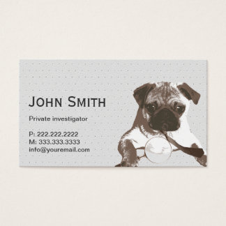 Detective Pug Investigator Business Card