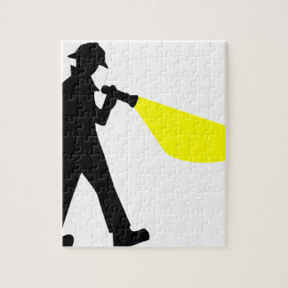 Detective with Flashlight Jigsaw Puzzle