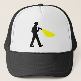 Detective with Flashlight Trucker Hat
