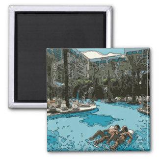 Détente par le côté de piscine à Vegas Magnets Pour Réfrigérateur