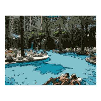 Détente par le côté de piscine à Vegas Carte Postale