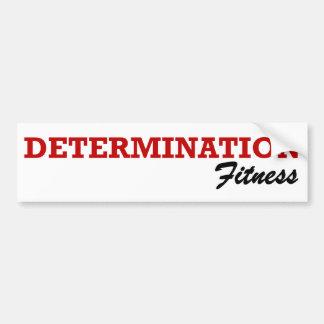 DETERMINATION Fitness Sticker Bumper Sticker
