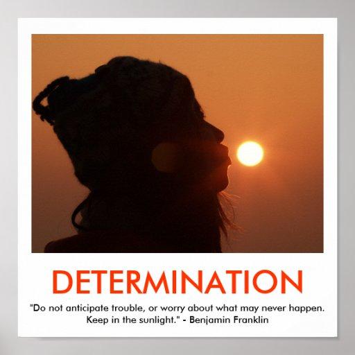 DETERMINATION motivational poster