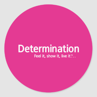 Determination - Thought Shapers™ Round Sticker