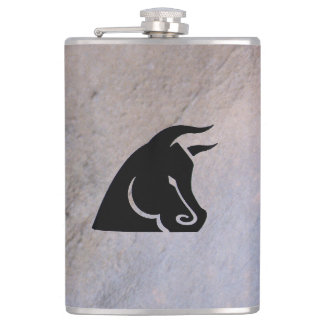 Determined Bull Camo Flask