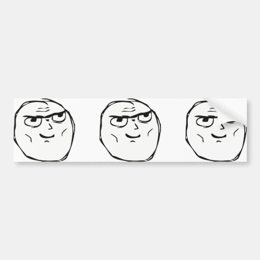 Determined Guy Meme - Bumper Sticker
