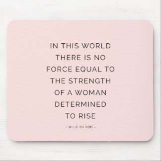 Determined Woman Inspiring Quotes Pink Black Mouse Pad