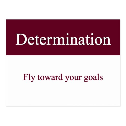 Determinedly fly towards your goals postcard